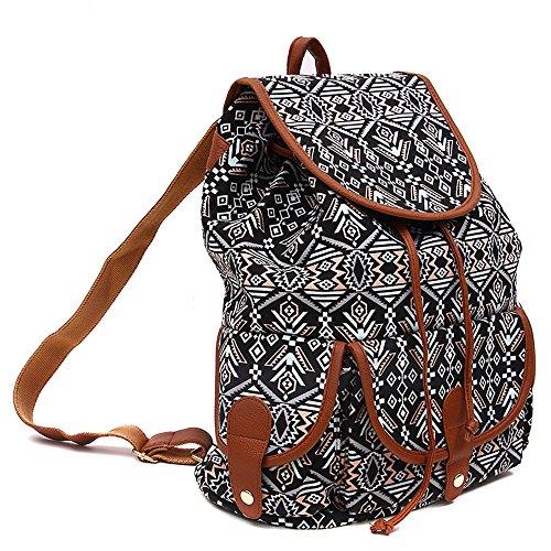 Cartella Bag Casual Donne B Ragazze Donna Ragazzi Backpack Ginli Sport Giorno Canvas Zaino Modacanvas Per Vintage Viaggio Book Le Da Scuola Pack TX7On