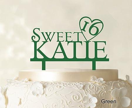 Enjoyable Personalized Birthday Cake Topper Green Cake Topper Color Option Funny Birthday Cards Online Alyptdamsfinfo