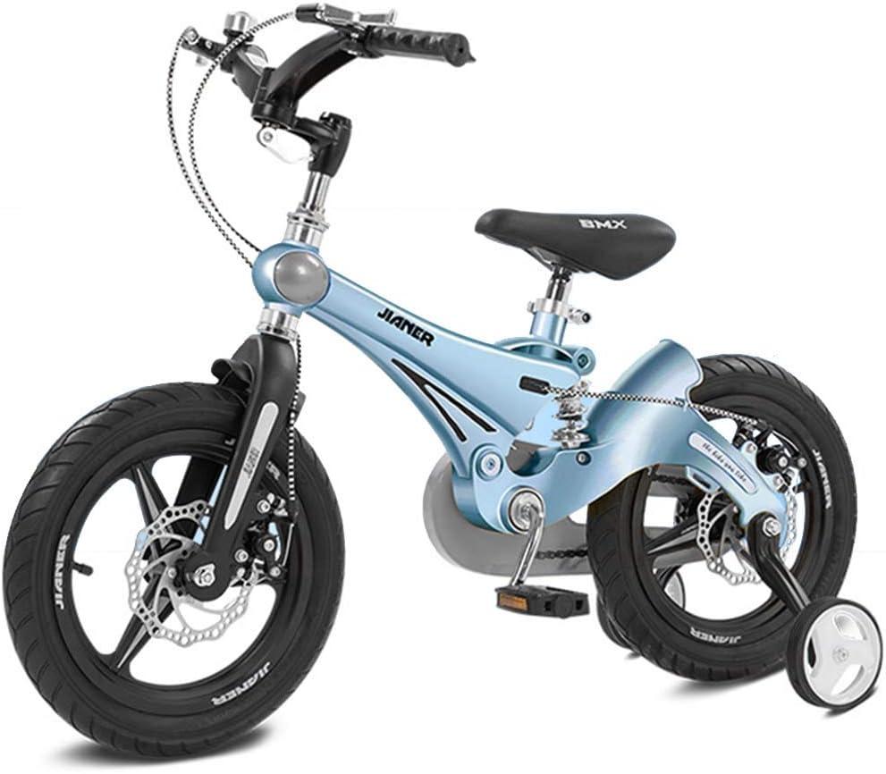 Bicicletas Infantiles 12 14 16in,Unisex Bicicleta BMX Freestyle,Freno de Disco,Material de Aleación de Magnesio,Adecuado para niños de 3 a 6 años.