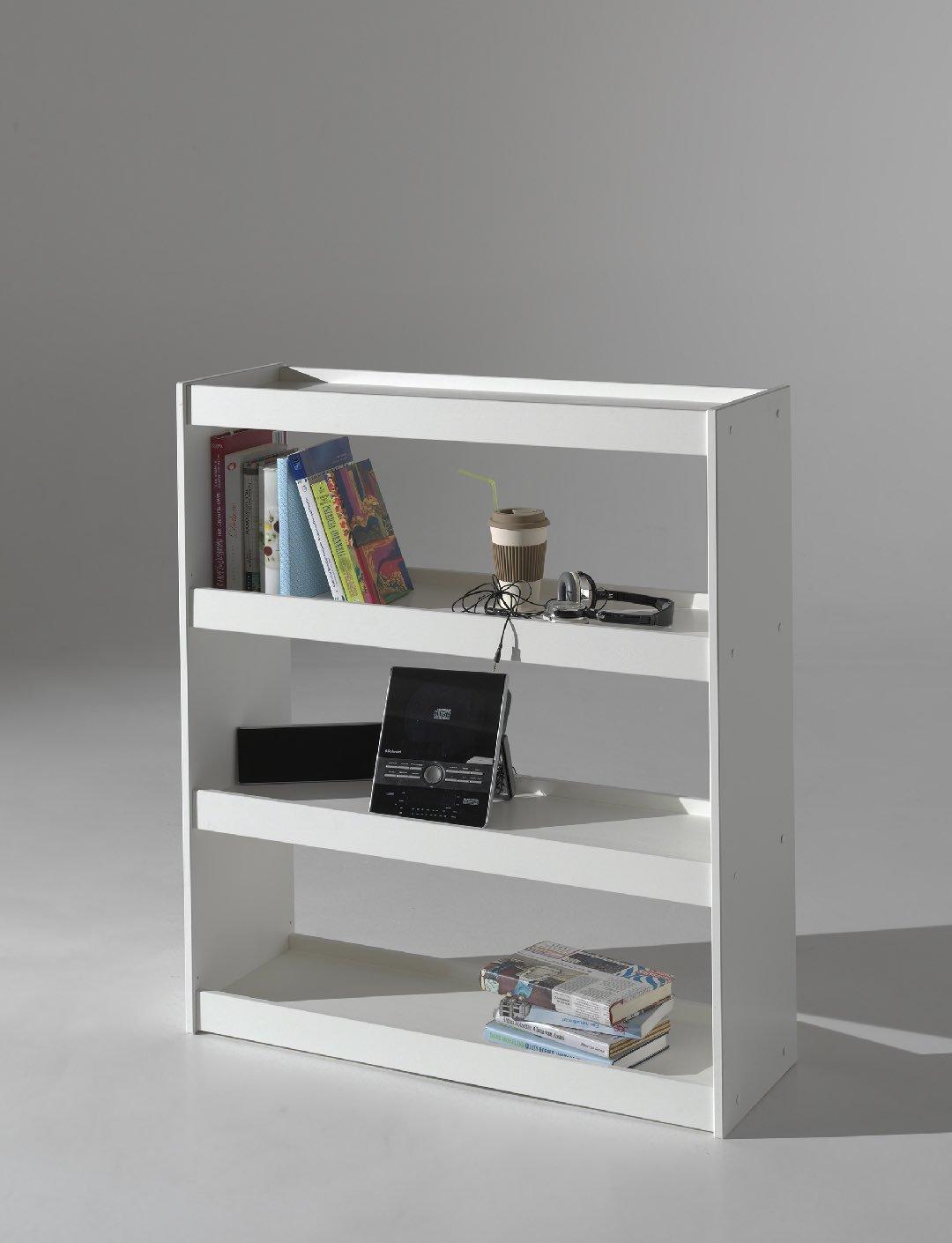 Vipack PIBI8014 Pino Bibliothèque Blanc Pin 32 x 103 x 120 cm