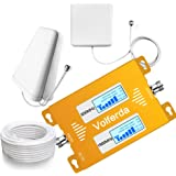 Volferda Cell Phone Signal Booster for Home 850MHz/1900MHz Band 2 and Band 5 Dual Band Mobile Repeater for 2G/3G/4G Verizon Sprint U.S.Cellular T-Mobile AT&T