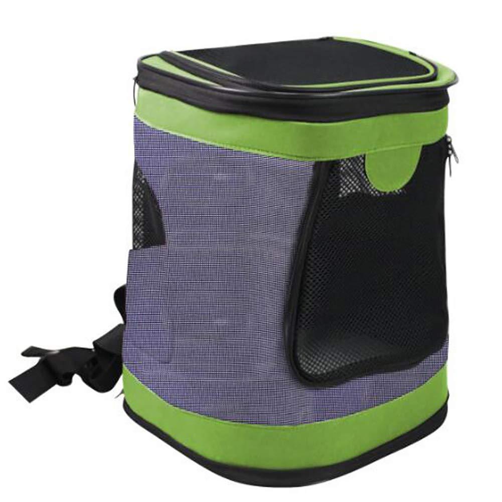 Green MIJIN Pet Backpack Cat Dog Breathable Carrier Backpack Cat Dog Outdoor Supplies Portable Travel Shoulder Bag Puppy Kitten