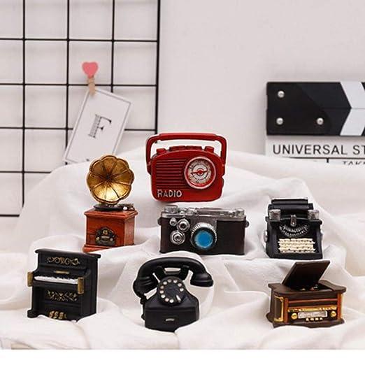 THREE Mini Teléfono Piano Radio Vintage Decoración del hogar ...