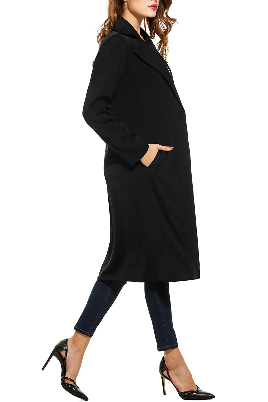 Zeagoo Womens Open Front Long Trench Coat Casual Lightweight/Blazer Cardigans Winter Outdoor AMH006950