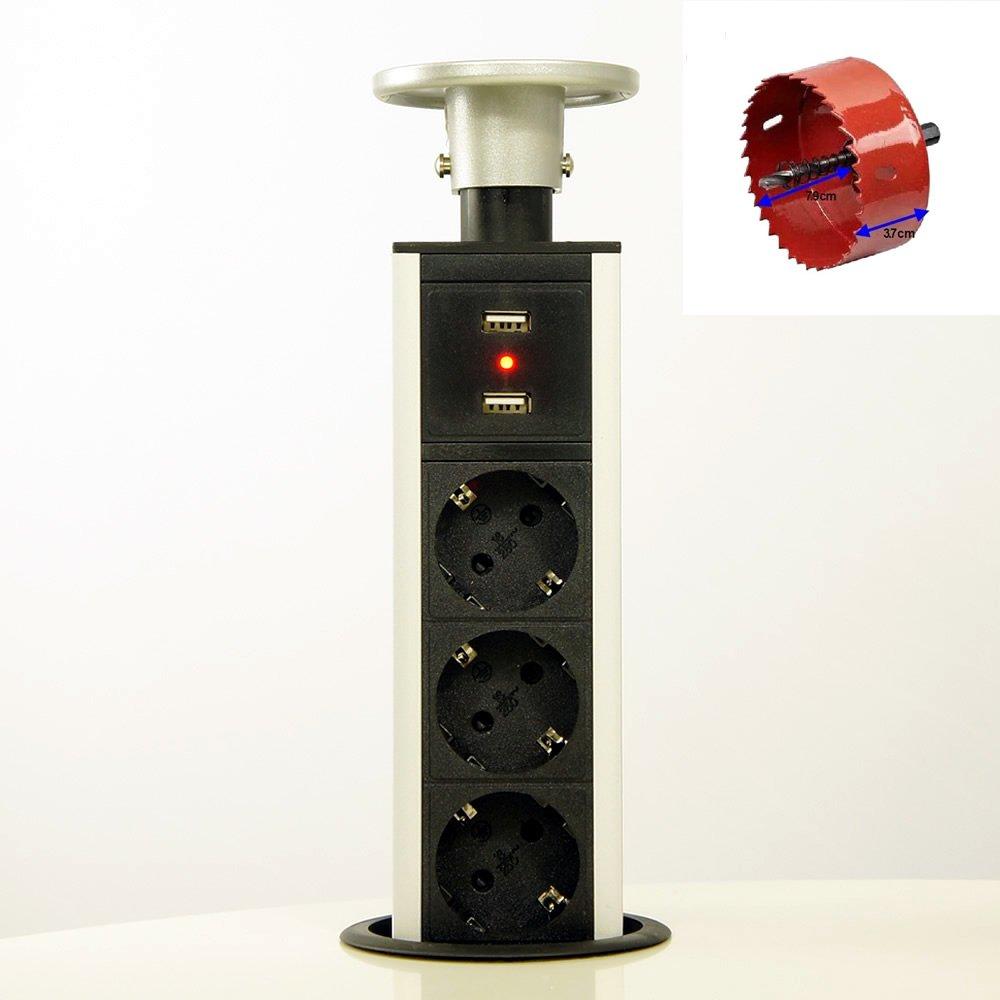 HUX POWER EL1803SU Tisch-Steckdosenleiste mit: Amazon.de: Elektronik