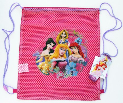 [Wholesale Lot 12 Pieces Disney PRINCESS Sling Bags Tote Net Front Birthday Party Favors - SOLD IN 12 PIECES] (Wholesale Lot 10 Piece)