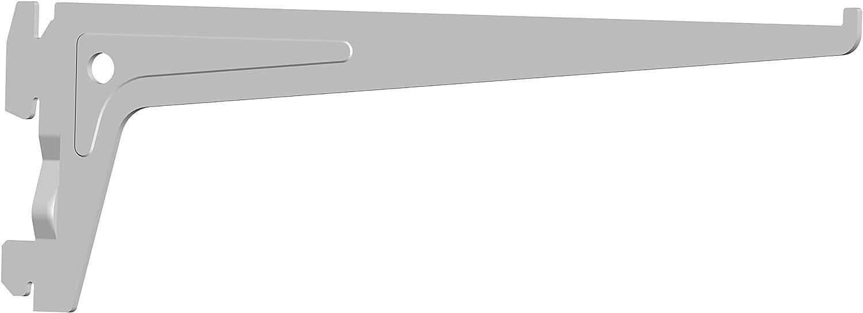 Metallb/öden Metall Holzb/öden Regaltr/äger 1-reihig wei/ß Regalwinkel f/ür Wandschienen 3 Farben 2 St/ück Element System Winkeltr/äger f/ür Regalsystem 5 Abmessungen