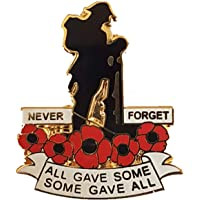 best badge: WW1 Military Veteran Soldier Never Forget Red Poppy Pin Badge Brooch