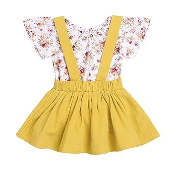 46cf6dc039c Amazon.com  CCSDR Baby Girl Strap Skirt+Romper