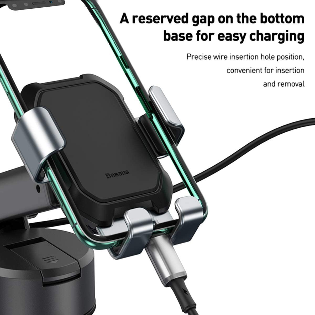 11 XS Max//XS 8 Plus Samsung All Phones Baseus Car Cell Phone Holder Mount Universal Gravity Strong Suction Windshield Dashboard Hands Free Car Mobile Phone Holders for iPhone 12//11 Pro Max