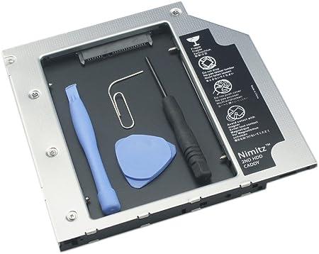 Nimitz 2 nd HDD SSD Caddy para disco duro para portátil DELL ...