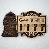 Game of Thrones Key Holder - Iron Throne - Laser cut and laser engraved wood key holder. Perfect gift, memorabilia or collectible