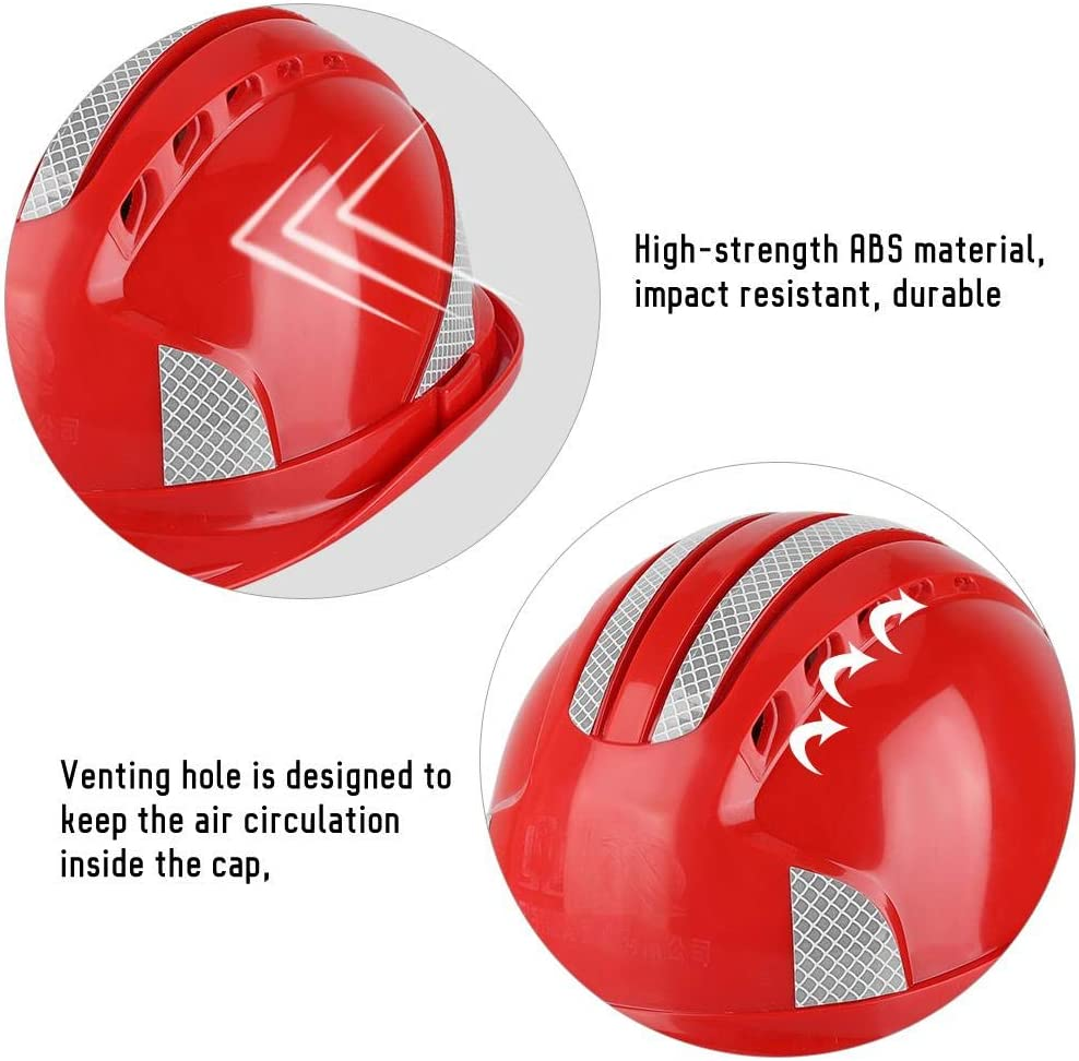 1# Worker Construction Site Protective Cap Ventilate ABS Hard Hat Reflective Stripe Safety Helmet Safety Helmet,Worker Helmet Protective Cap Ventilate ABS Hard Hat