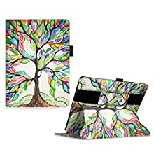 Fintie iPad 2/3/4 Case - [Multi-Angle Viewing, Headrest Mount] Stand Cover W / Elastic Hand Strap, Auto Sleep / Wake for Apple iPad 4 with Retina Display / iPad 3 / iPad 2, Love Tree