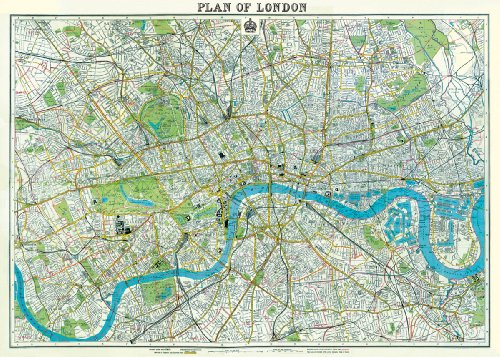 Cavallini & Co. London Map Decorative Decoupage Poster - Import It All