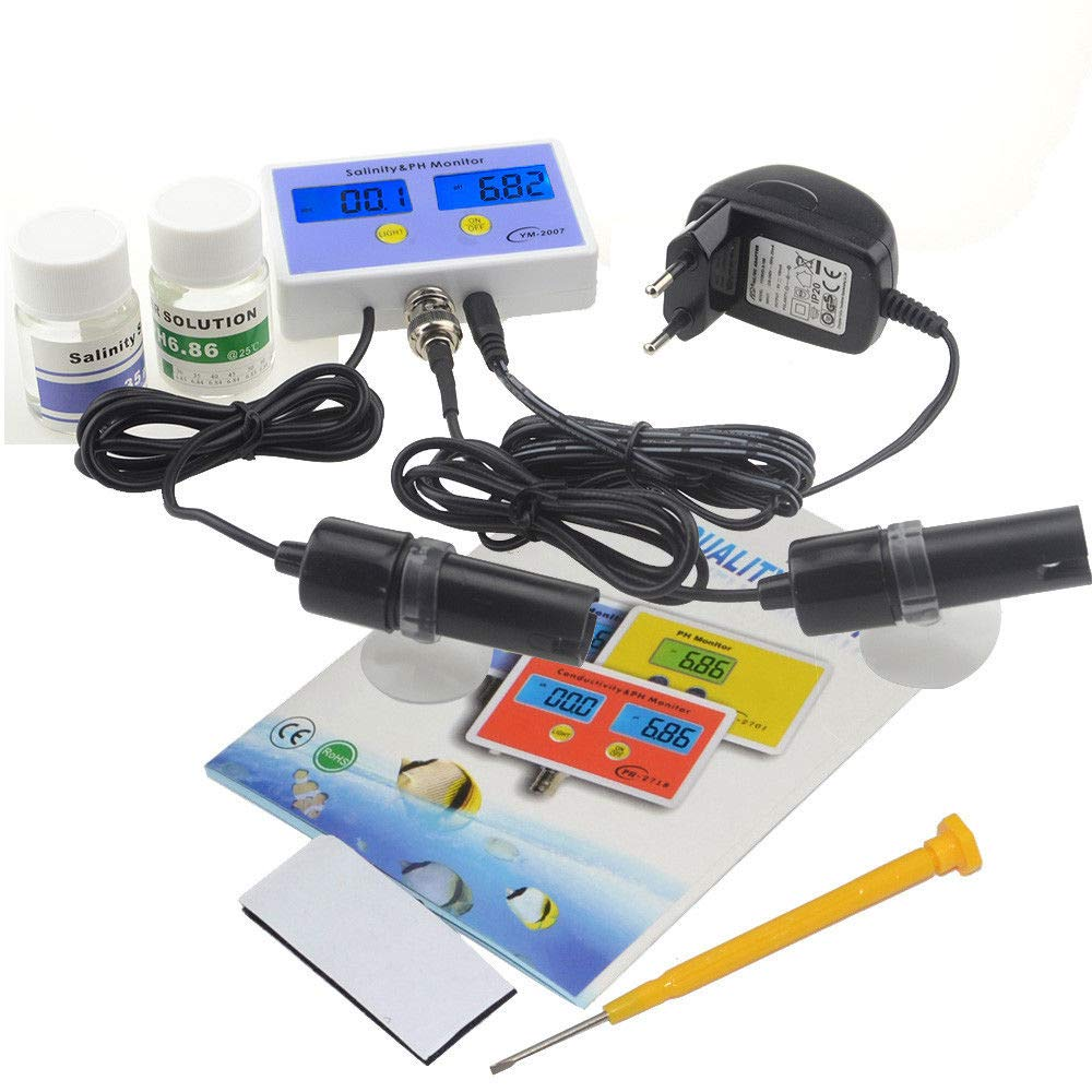 FidgetGear 2 in1 Digital Salinity & PH Meter Salinity&PH Monitor for Aquarium
