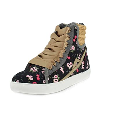 Poppy Womens Encourager Black Sneaker - 7 | Fashion Sneakers