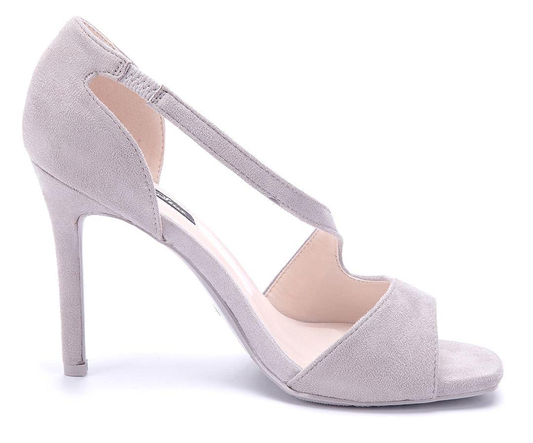 fc805ec0b2605 Schuhtempel24 Damen Schuhe Sandaletten Sandalen Stiletto 10 cm High ...