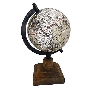 Amazon.com: Indian Globe Handmade Vintage Style World Map Grey 5