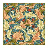 Acanthus Leaves Ivory Peach by William Morris Counted Cross Stitch ...