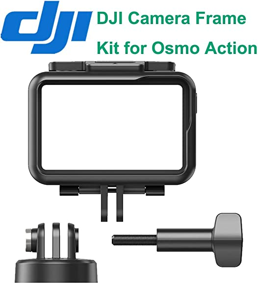 OSMO Action Camera 4K HD Video Cam Digital Waterproof HDR-Video Battery Charging Kit Adhesive Mount Kit Frame Kit Accessories Compatible with DJI OSMO Action Camera DJI Genuine Camera Frame Kit
