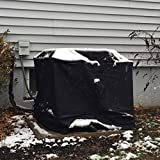 AnyWeather Central Air Conditioner Full Outdoor Cover, Black