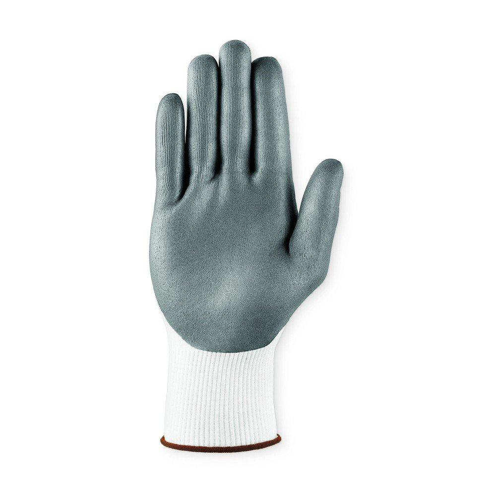White 4 Wide Ansell 103431 HyFlex 11-830 Foam Nitrile Palm Coated Machine Knit Assembly Gloves 0.25 Height 10 Length 4 Wide Pack of 12 0.25 Height 10 Length Size 8