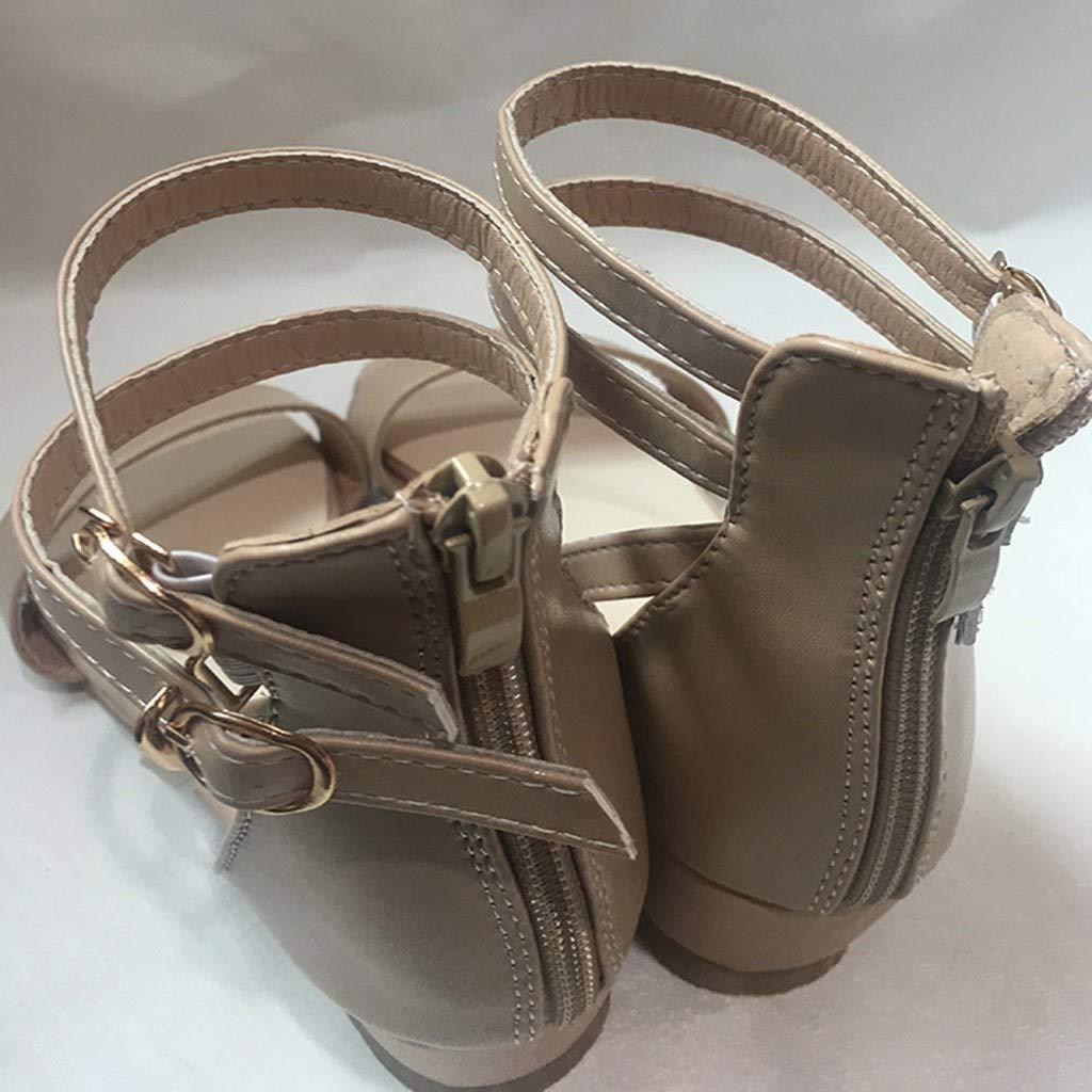 Dressin Womens Casual Sandals Women Wedge Platform Zipper Buckle Ankle Strap Open Toe Solid Color Summer Shoes Sandal