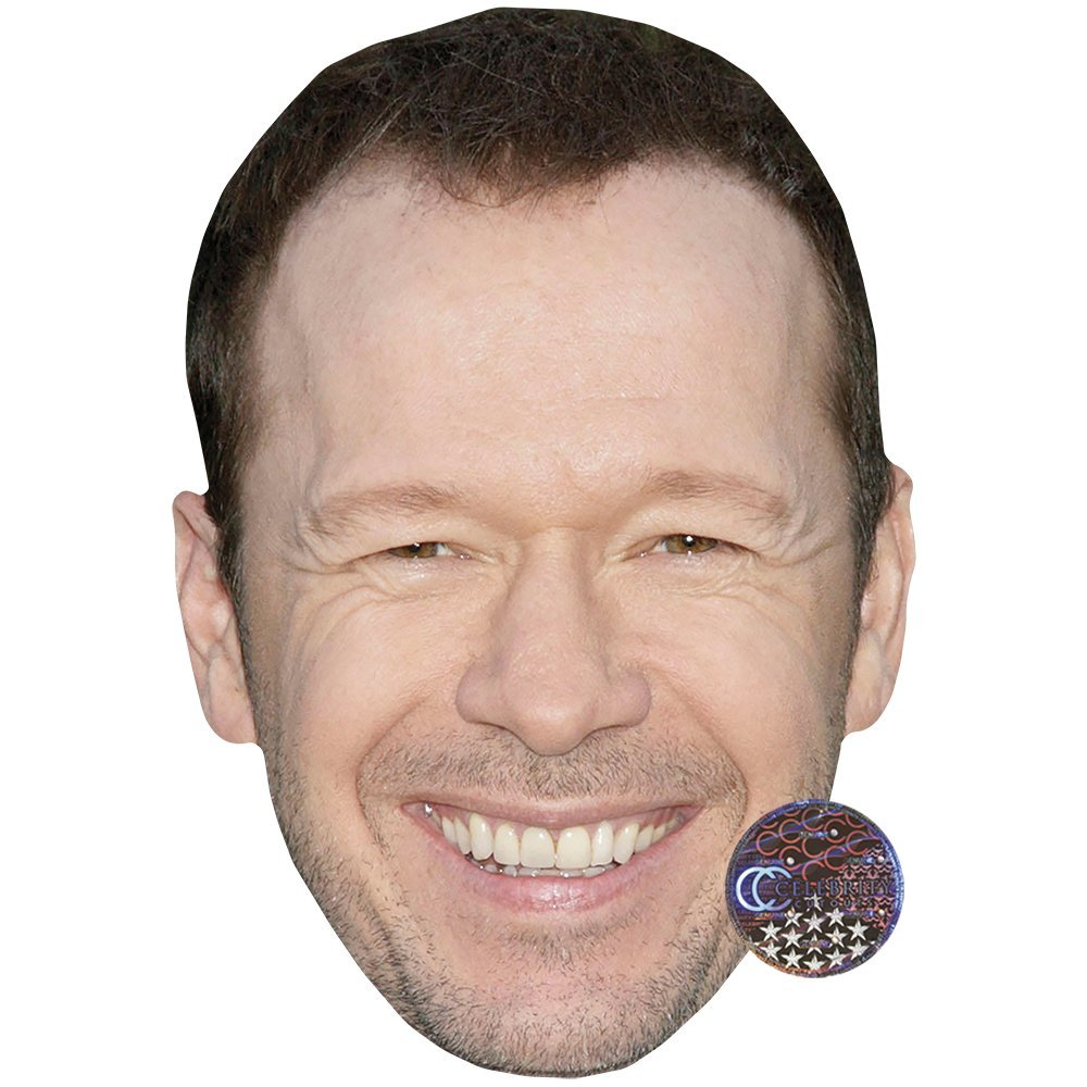 Donnie Wahlberg Celebrity Mask, Card Face and Fancy Dress Mask Celebrity Cutouts