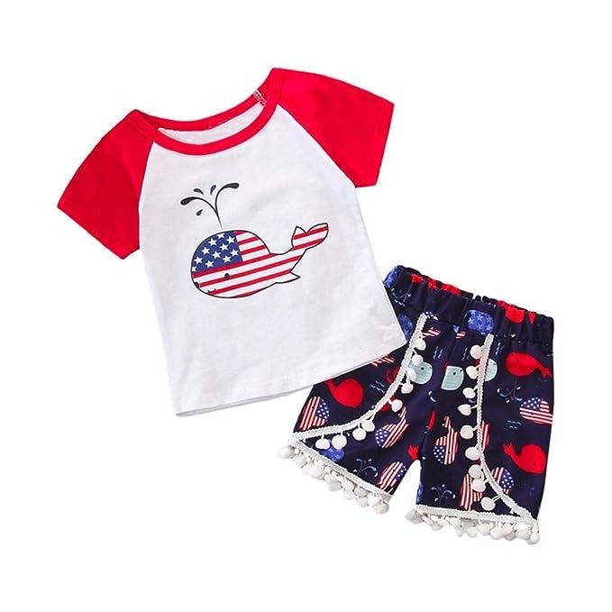 Amazon.com  2Pcs Baby Boys Girls Clothes Sets 28d1424dd