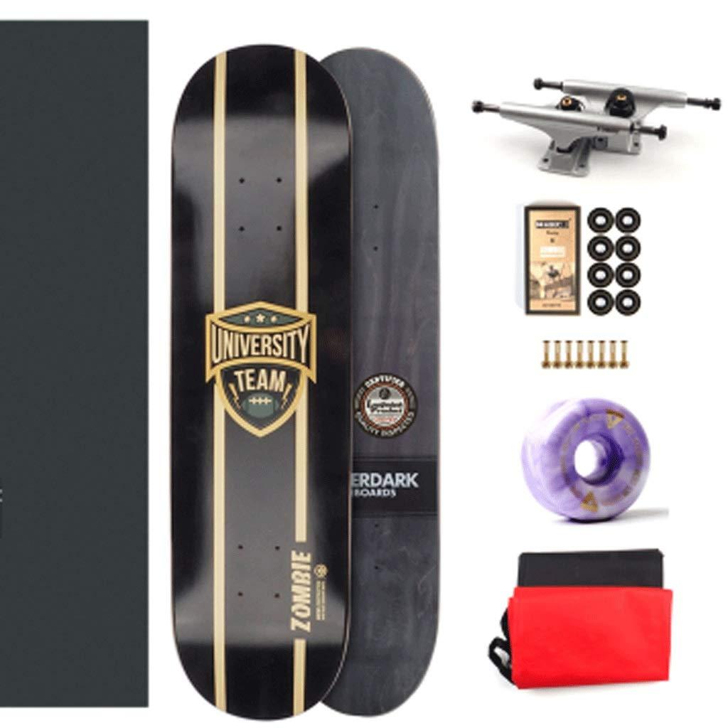 定番  スタントプロフェッショナル双方向傾斜ボードプロフェッショナルスケートボードアセンブリホールボードファンシーボードコールドプレッシャースケートボード : (色 黒 : 黒 Leaf) B07KTX676C 黒 黒, EverydayGoldrush:1a6eb2ea --- a0267596.xsph.ru