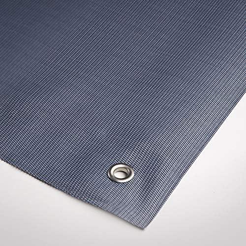 1,00x5 m Texstyle Priv/é Grigio Tenax Rete Tessuta Decorativa Frangivista Composta da PVC e Poliestere
