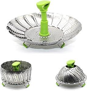 Adjustable Vegetable Baskets For Cooking - Foldable Steamer Basket (5.1