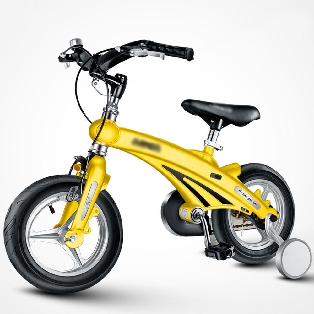 FEIFEI 子供の自転車3歳6歳のベビーベビーカー12/14/16インチマウンテンバイク自転車折りたたみハンドルバー B07CXZCF17 14 inches|イエロー いえろ゜ イエロー いえろ゜ 14 inches