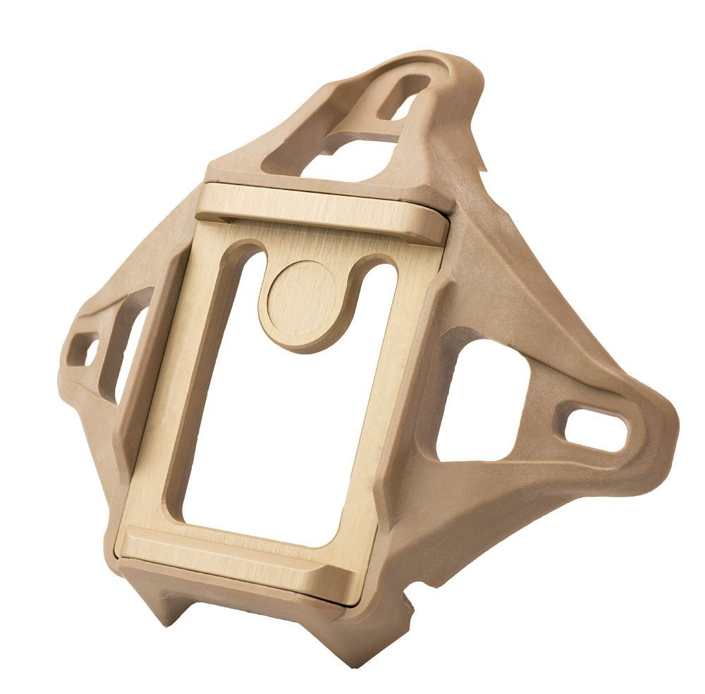 DLP Tactical 3-Hole Skeleton NVG Mount Shroud Compatible with ACH/MICH/OPS-Core Fast/Crye AirFrame Helmet (Tan)