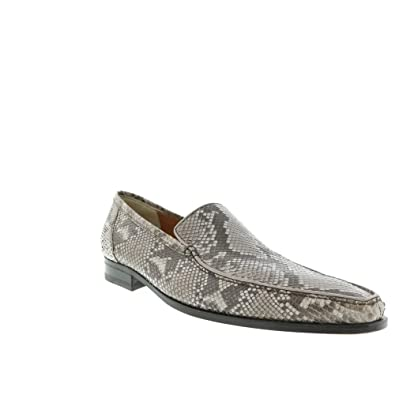 Mens Grey Python Print Loafer Size UK 14