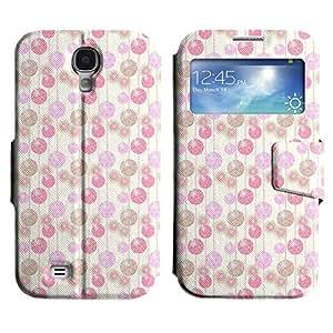 LEOCASE círculos lindos Funda Carcasa Cuero Tapa Case Para Samsung Galaxy S4 I9500 No.1004105