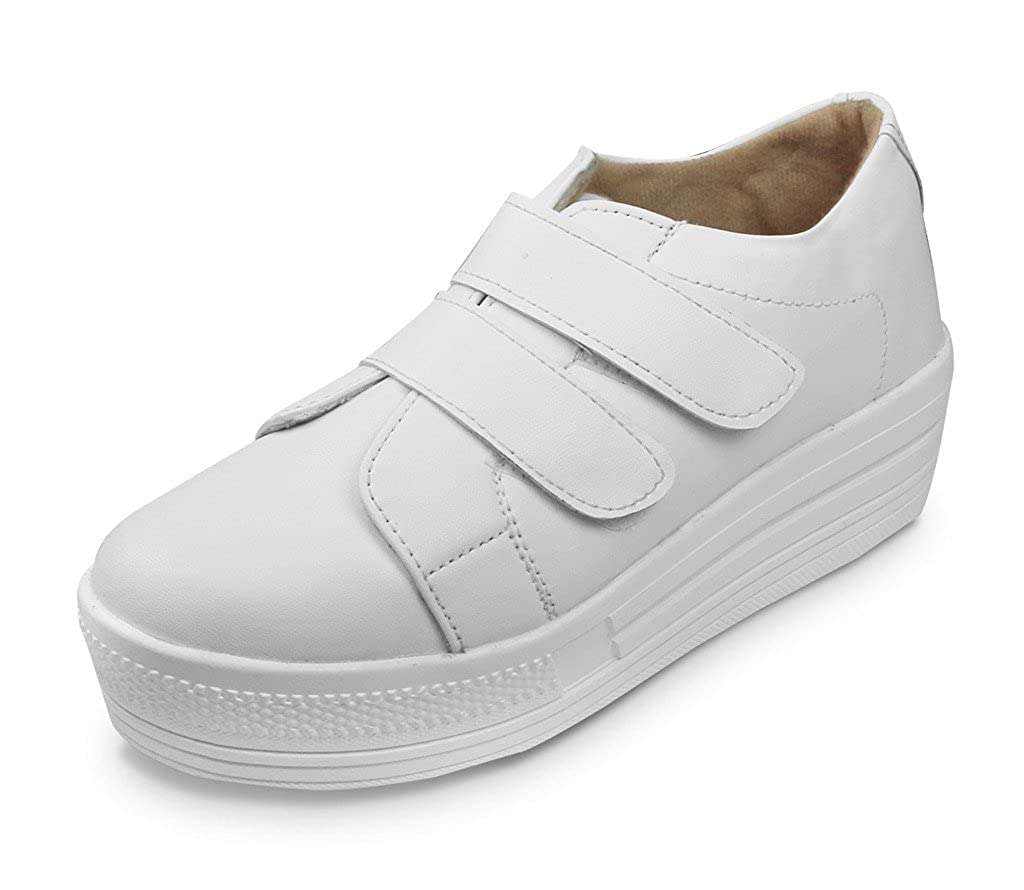 16bdcaa315a2 Beonza Women White Sneakers Shoes-41-BZRVL033-WHT-VLCRO 11  Buy Online at  Low Prices in India - Amazon.in