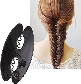Display08 Femme Tresse Cheveux Outil Magic Twist Roller Tissage Fish Bone Coiffure Cheveux Clip Diy Amazon Fr Beaute Et Parfum