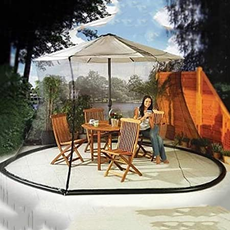 BCXGS Mosquitera de Malla para sombrilla de jardín al Aire Libre con Cremallera, Mosquitera Carpa, Fácil de Instalar, Fácil de Llevar,275cm x 230cm: Amazon.es: Hogar