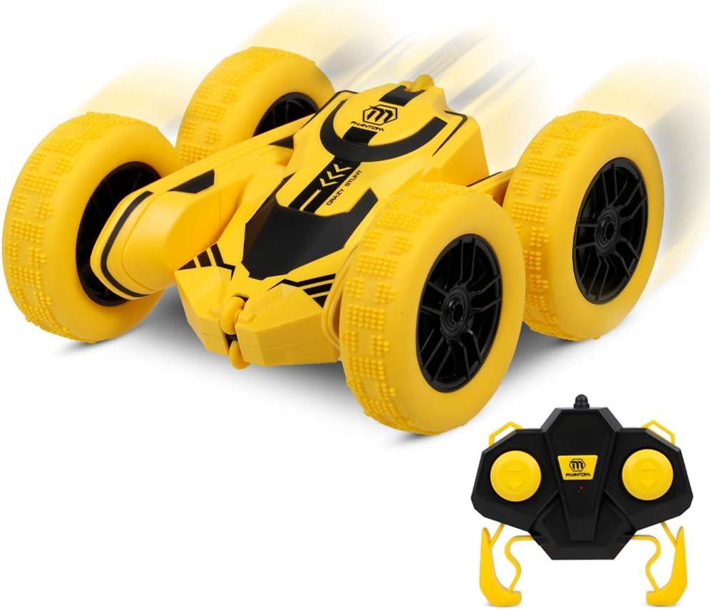 Goolsky 1/28 2.4GHz RC Stunt Car RC Car Alta Velocidad Tumbling Crawler Vehículo 360 Grados Flips Doble Cara Giratoria Tumbling con Batería