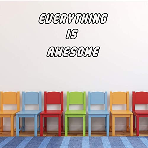 Amazon.com: \'Everything Is Awesome\' Wall Decor – Vinyl Decal ...