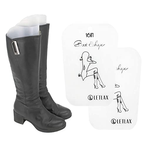 a5ec31fd6 Amazon.com: LETLAX Boot Shapers for Tall Boots,Boot Shaper Form Inserts for  Men and Women,16 inches,White,4 Pairs: Shoes