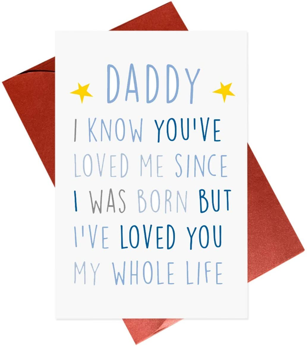 Birthday Card For Daddy,Fathers Day Card,New Dad Cute Birthday Cards