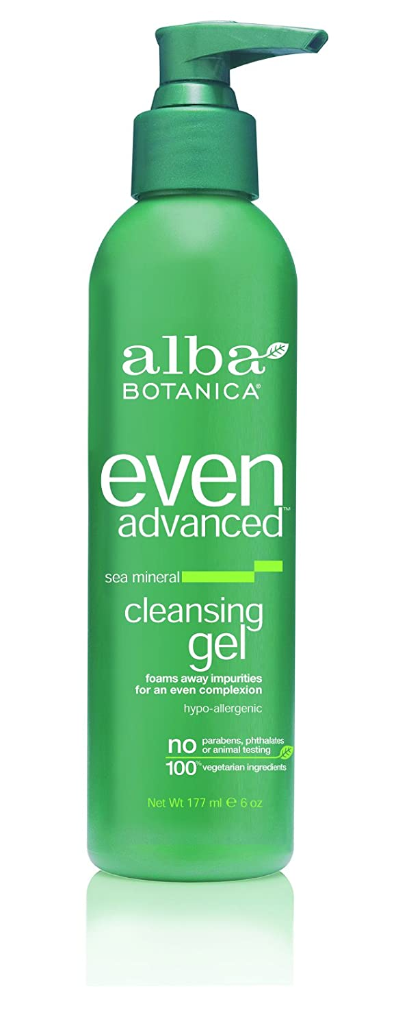 Alba Botanica Even Advanced, Sea Mineral Cleansing Gel, 6 Ounce (Pack of 2)