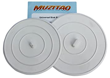 Sink Stopper (2 Pack) Rubber Bathtub Drain Stopper U0026 Kitchen Sink Plug The  Best