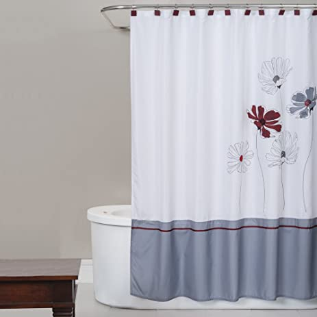 Delicieux Saturday Knight Scarlet Fabric Shower Curtain