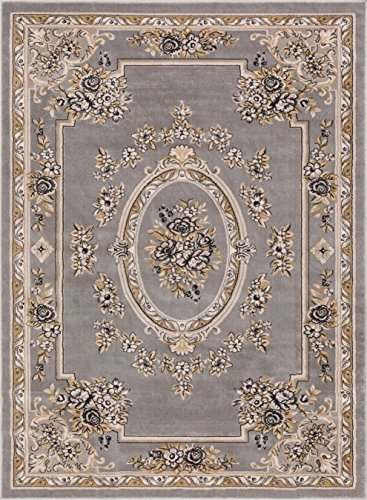 Well Woven 36385 Timeless Le Petit Palais Traditional Medallion Grey Area Rug 5'3