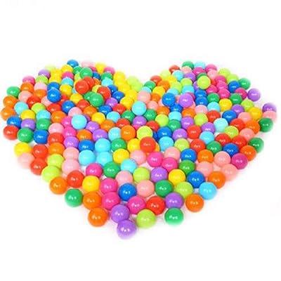 20/50/100 Bolas de Colores Plástico Pelotas Multicolores del Océano respetuoso del medio ambiente de colores de plástico (Vistoso, Paquete de 20): Hogar