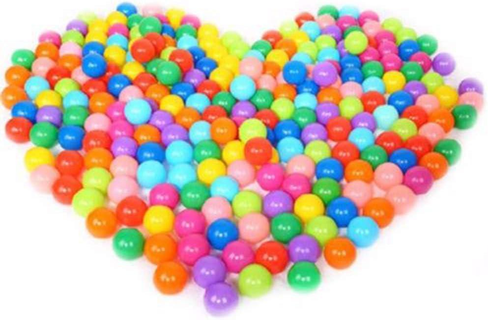 20/50/100 Bolas de Colores Plástico Pelotas Multicolores del Océano respetuoso del medio ambiente de colores de plástico (Vistoso, Paquete de 100)